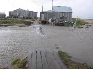 Changements climatiques: le village déménagé