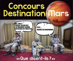 Concours Destination Mars: les gagnants!