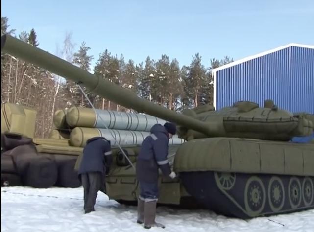 De faux tanks gonflables pour faire peur aux ennemis [vidéo]