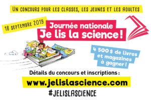 Le 18 septembre, « Je lis la science ! »